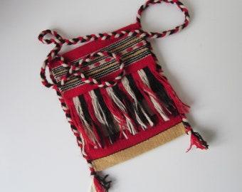 Peruvian bag shoulder bag wool ethnic hippie boho Peru