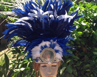 Feather Headpiece. Perfect For Tahitian & Cook Island Headpiece Or Head Dress.. Suitable For Girls Of All Ages..Soloist, Luau, Groups.