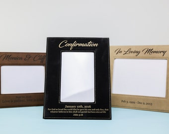 Custom Laser Engraved Leather Frame