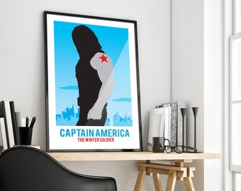 Captain America: The Winter Soldier | Marvel | Simpliastic | Poster Print Design | A0 A1 A2 A3 A4