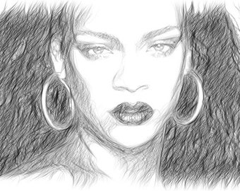 Quick Digital Sketch From Picture