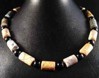 Jasper necklace mustard
