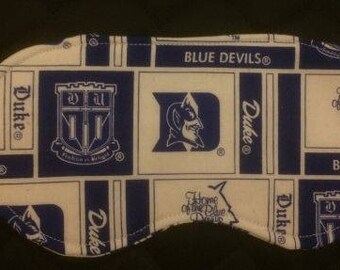 New DUKE UNIVERSITY Blue Devils Sleep MASK Eye Sleepwear College Bedroom University Clothes