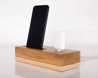 PRE ORDER iPhone dock / AirPods charging dock, iPod dock, iPhone 6 dock, iPhone 7 dock, iPhone 8 dock, iPhone X dock, handcrafted quality