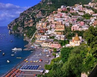 Positano Photography Travel Photography - Beach Photography - Amalfi Coast - Italy - Home Decor - Wall Art - Bedroom Decor