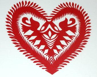 Papercuts Wycinanki Original Polish Folk Art Picture
