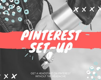 Pinterest Account Setup | Social Media Marketing | Etsy Shop Help | Social Media Management | Etsy Sellers | Pinterest Help | Shop Branding