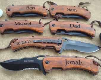 Personalized Engraved Pocket Knife/Laser Engraved, personalized knife, wedding knife, anniversary gift, groomsman knife, best man knife 936