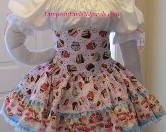 DDNJ Choose Fabric 4pc Lolita UnderBust Corset Chemise Multi Tier Skirt Petti Plus Custom Made ANY Size Renaissance Anime Kawaii Cosplay