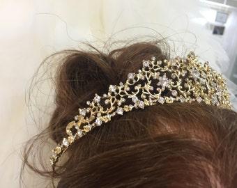 ABIGAIL - Gold Tiara Crown