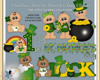 Baby Clipart, Chubbies First St. Patrick's Day