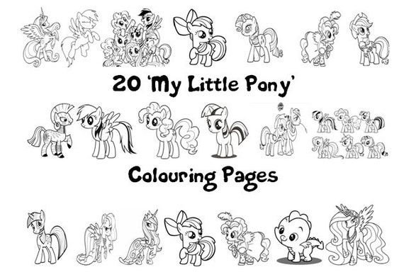 My little pony friendship is magic colouring book pack
