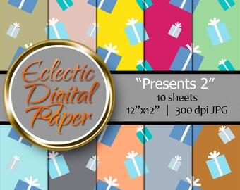 Digital Paper Presents, Presents 2, Digital Birthday Presents, Birthday Presents Paper, Digital Paper, Presents Digital Paper