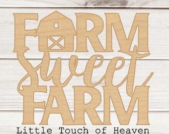 Farm Sweet Farm Wood Blank