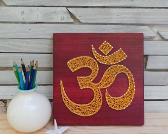 Om Symbol - Modern String Art Tablet - Aum - Custom Made to order