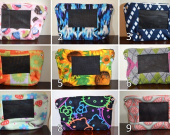 CUSTOM Fleece Bonding Pouch Purse with Screen and Adjustable Strap for Hedgehog, Rat, Sugar Gliders or Small Pet