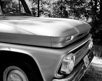 Old Truck Chevy Black and White Signed Art Print