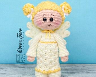 Annie the Angel Amigurumi - PDF Crochet Pattern - Instant Download - Amigurumi crochet Cuddy Stuff Plush