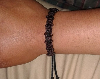 Square knot men's bracelet