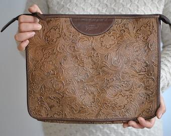 Vintage GRATIELLA PELATERIA leather clutch .............(027)