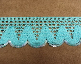 FANCY Ribbon - 4.5 cm - TURQUOISE