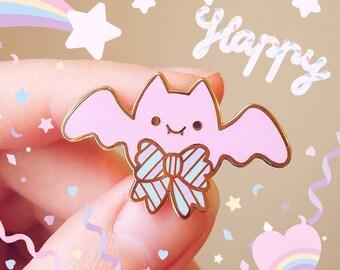 Pastel Bat Pin - Yumekawaii Enamel Pin