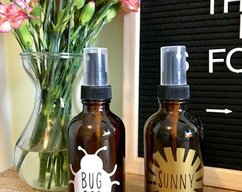 Summer Fun Collection || 4oz mister bottle labels || set of 2