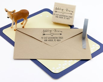 Return Address Stamp, Rubber Address Stamp, Housewarming Gift, DIYer Gift, Wedding Gift. Custom Address Stamp