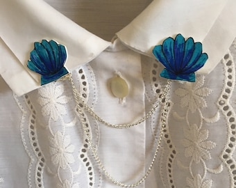 Clam Shell Collar Clips