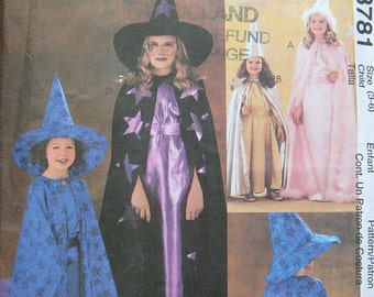McCalls Children Easy Sew Costume Pattern 3781
