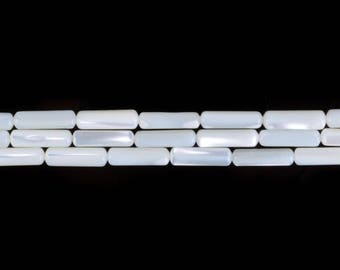 """13mm Mother of pearl mop shell Cylinder tube loose gemstone beads 16"""""""