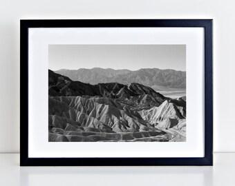 Travel Photography, Landscape Photography, Digital Download, Wall Art, Fine Art Prints - Zabriskie Point 3.0