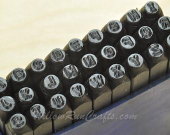 """ImpressArt Metal Stamp Letters- Sans Serif, Letters Upper Case 2.4mm, 3/32""""  Metal Stamping  (21-09-403)"""