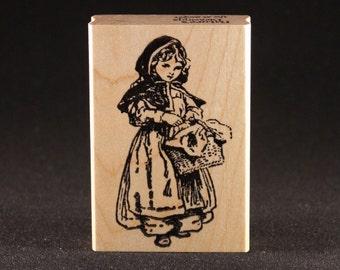 "Little Red Riding Hood Rubber Art Stamp (1.5"" x 2.9"")"