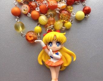 Sailor Venus // Sailor Moon // Beaded Necklace // Inner Senshi