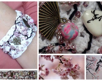 Japanese inspired Cuff Bracelet