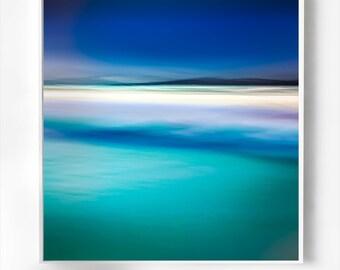 Large Coastal Art, beach canvas large, Seascape canvas art, romantic wall art, abstract coastal art,blue wall art, modern home decor