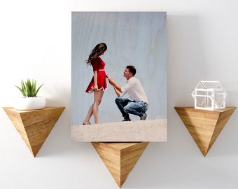 Wood Anniversary, Wedding Picture On Wood, Personalized Photo Gifts For Him, Custom Anniversary Gift, Picture On Wood, Wedding Gift
