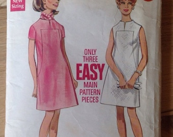 Vintage 60s Butterick 5173 A-line Dress • Size 12