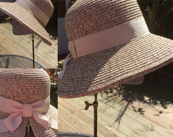 Chocolate and Natural / String Sun Bonnet