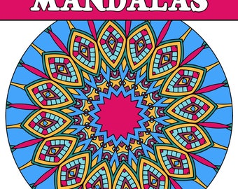 25 MANDALA COLORING Pages Adult Coloring Book (Volume 2); Meditation Relaxation; Mandalas to Print Color; Printable PDF Instant Download