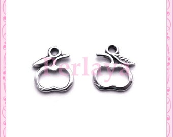 Set of 15 REF434X3 silver Apple charms
