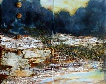 SALE~Encaustic Painting Thaw