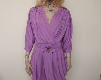 Purple Embellished Dress - Size 10/12/14