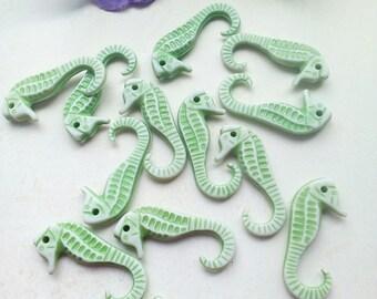 Seahorse acrylic (x 8) charms