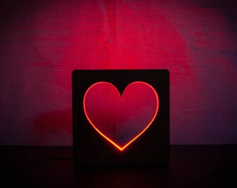Love Lamp Night Lights Lamp For Bedroom Table Lamp Wooden Lamp Plug In  Night Light Heart