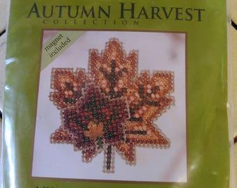 Fall Beaded Leaf Magnet Kit