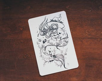 Mermaid Witch - card size print
