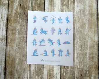 Unity Unicorn Mix, Unicorn character mix, character sticker, cute unicorn sticker, planner sticker