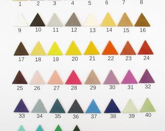Lot 2 diameter 3.5 cm color plain leather Triangles